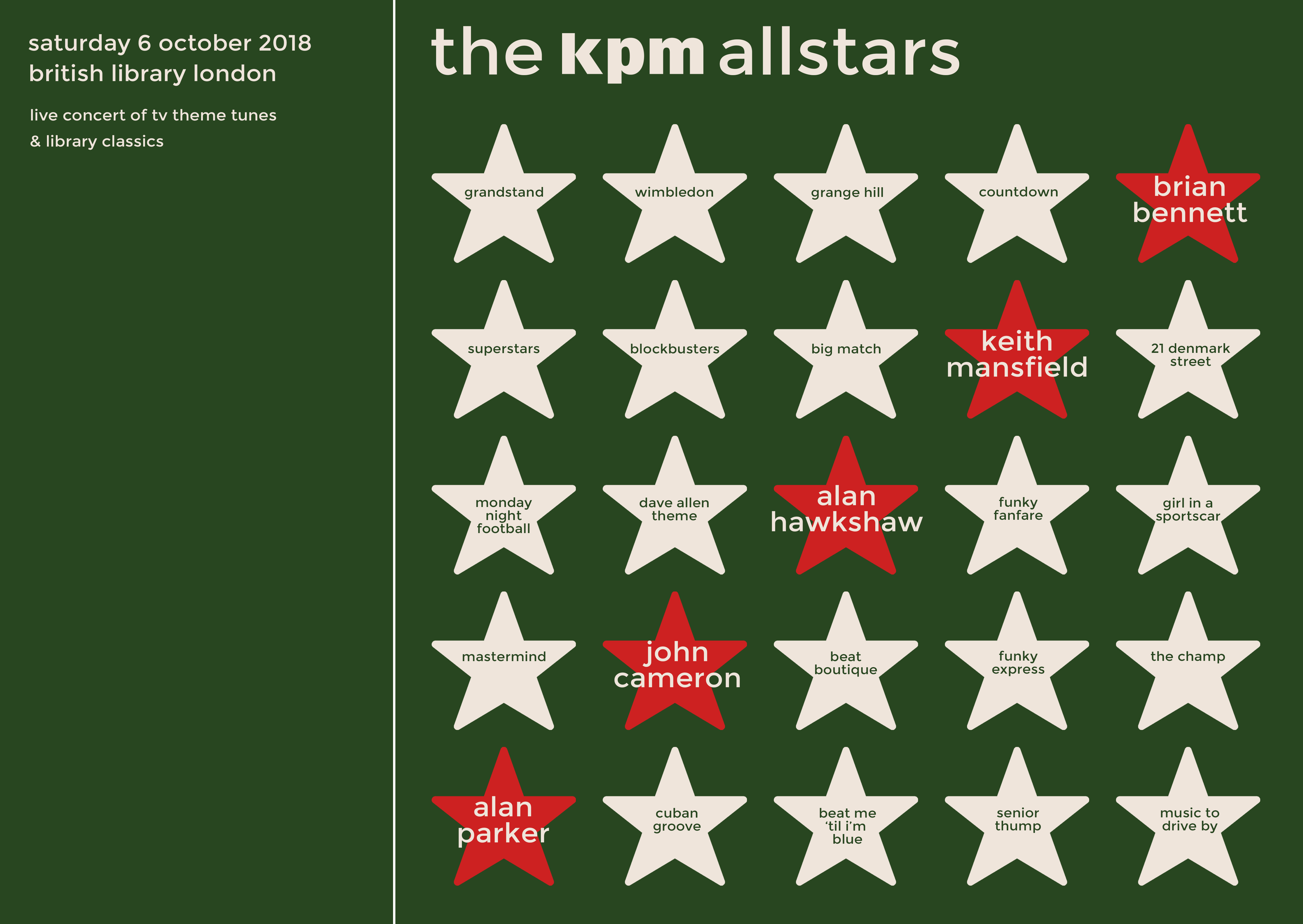 The Extraordinary Story of Library Music + Late at the Library: The KPM All  Stars Live