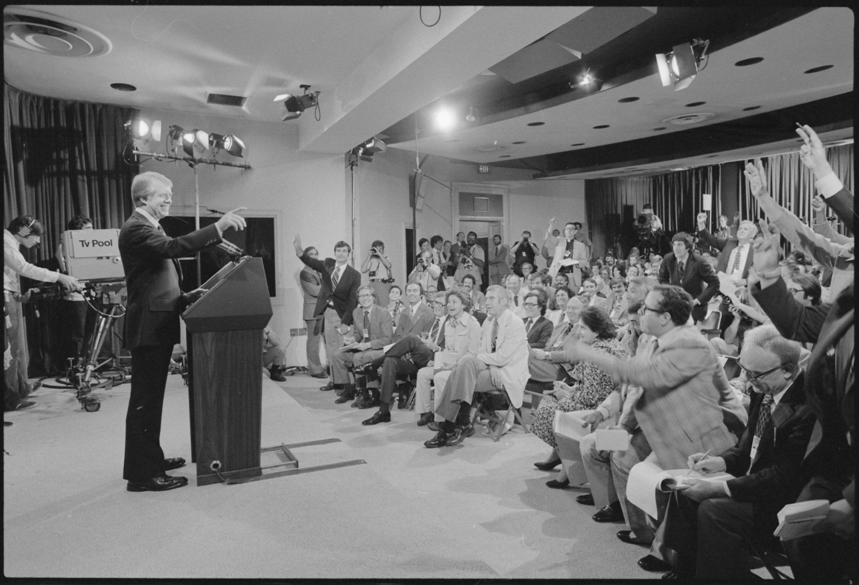 Jimmy Carter holds a press conference