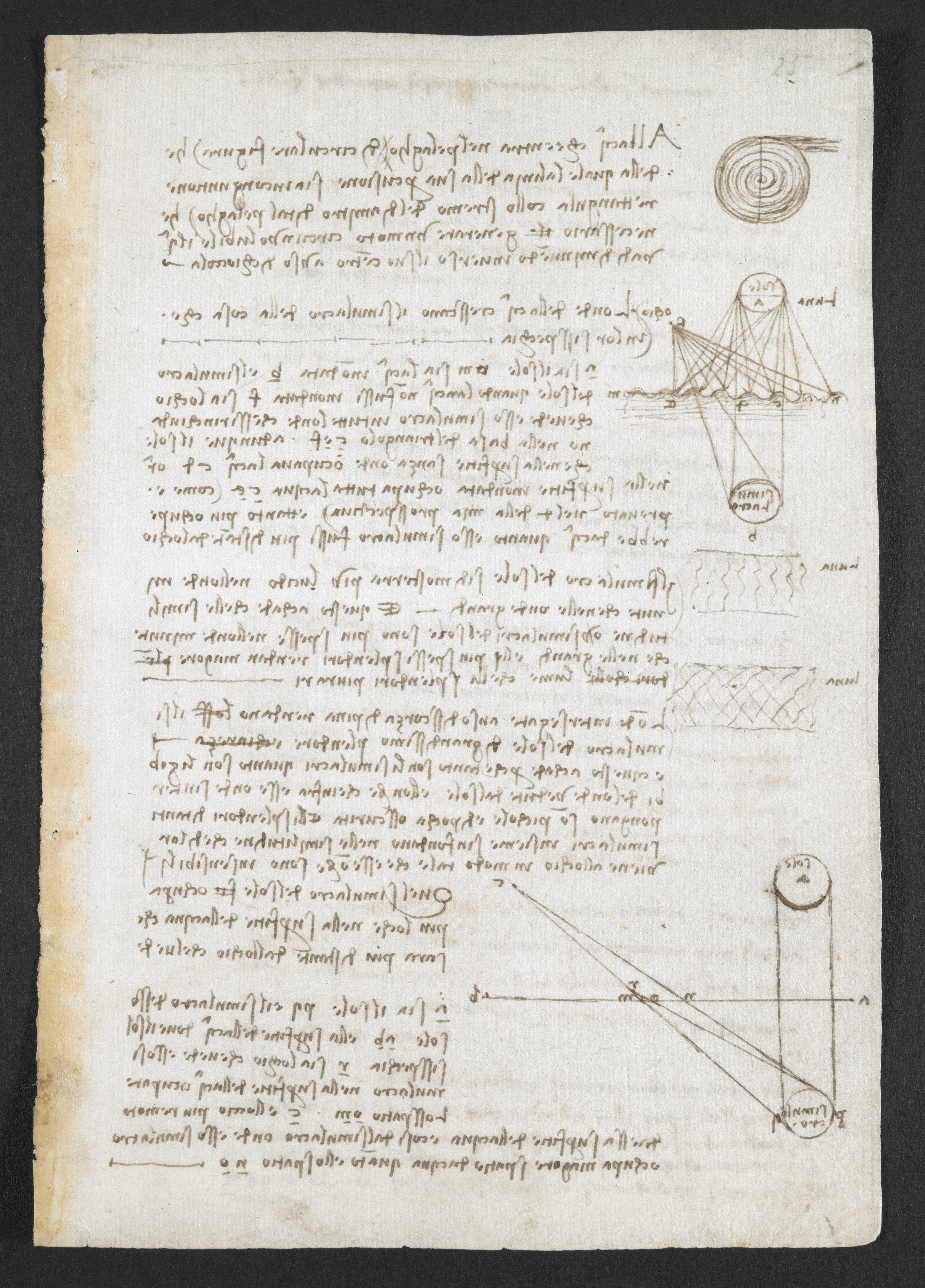 Observations on the course of the River Arno British Library Arundel MS 263 f 149r c British Library Board