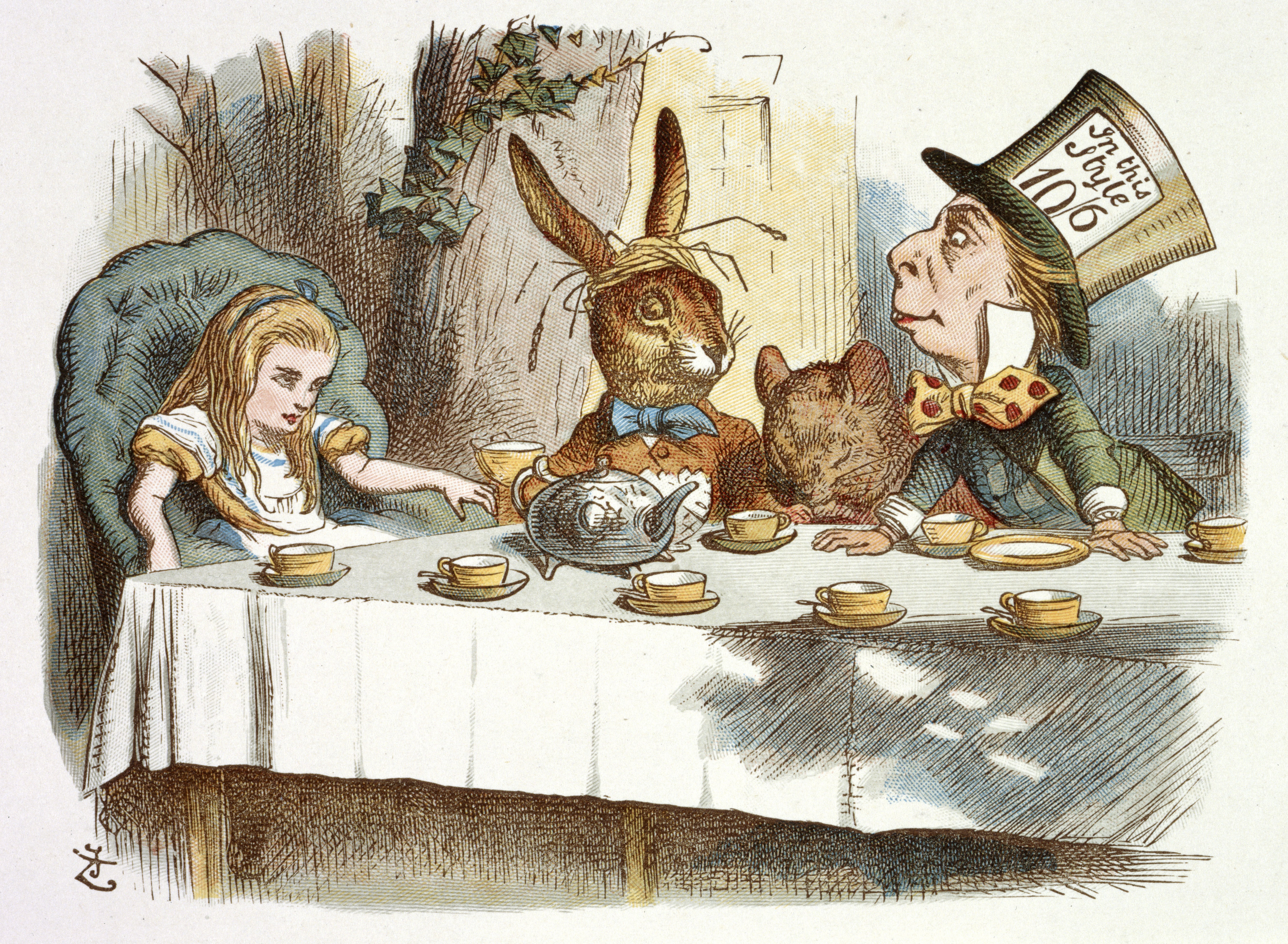 Discovering Children's Literature: a scene from the Mad Hatter's Tea Party in Alice in Wonderland