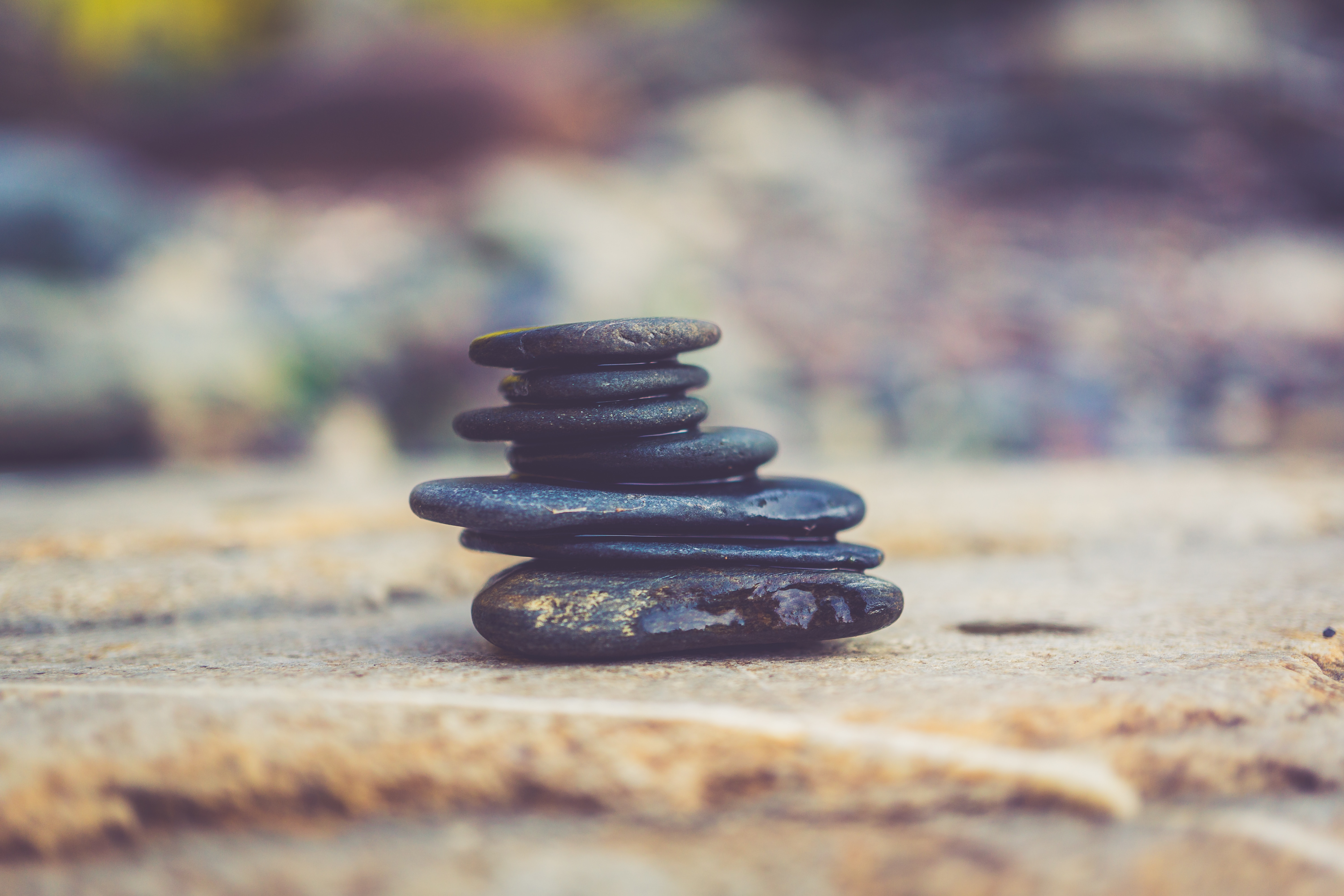 Zen yoga: a photo of a pile of stones