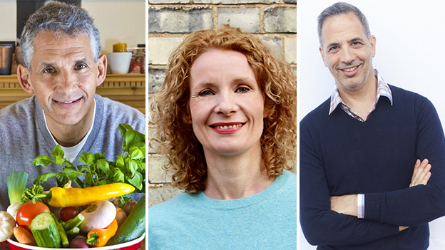 Composite of guests (Left to Right: Tim Spector, Bee Wilson, Yotam Ottolenghi)