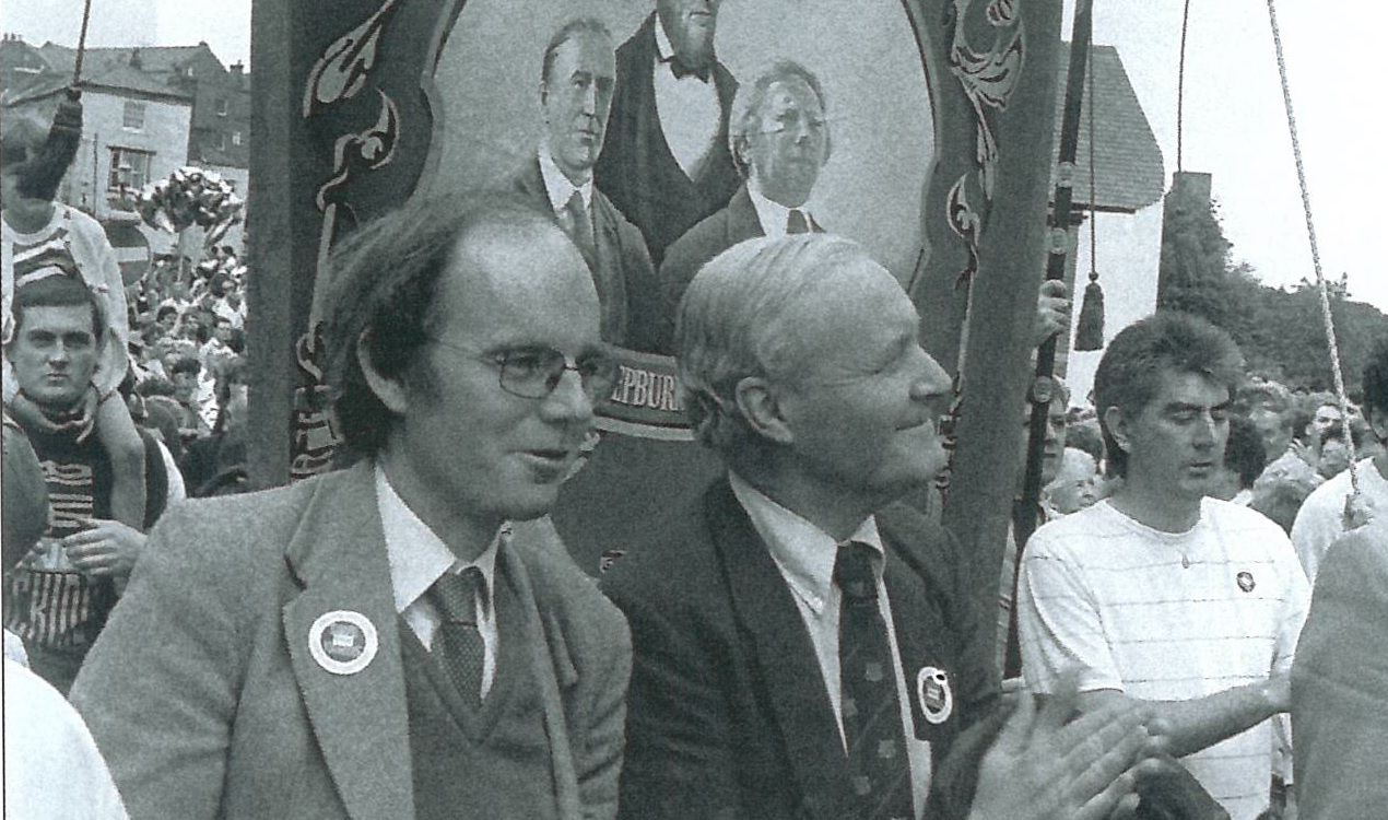 Tony Benn and Chris Mullin at the Durham Miners Gala