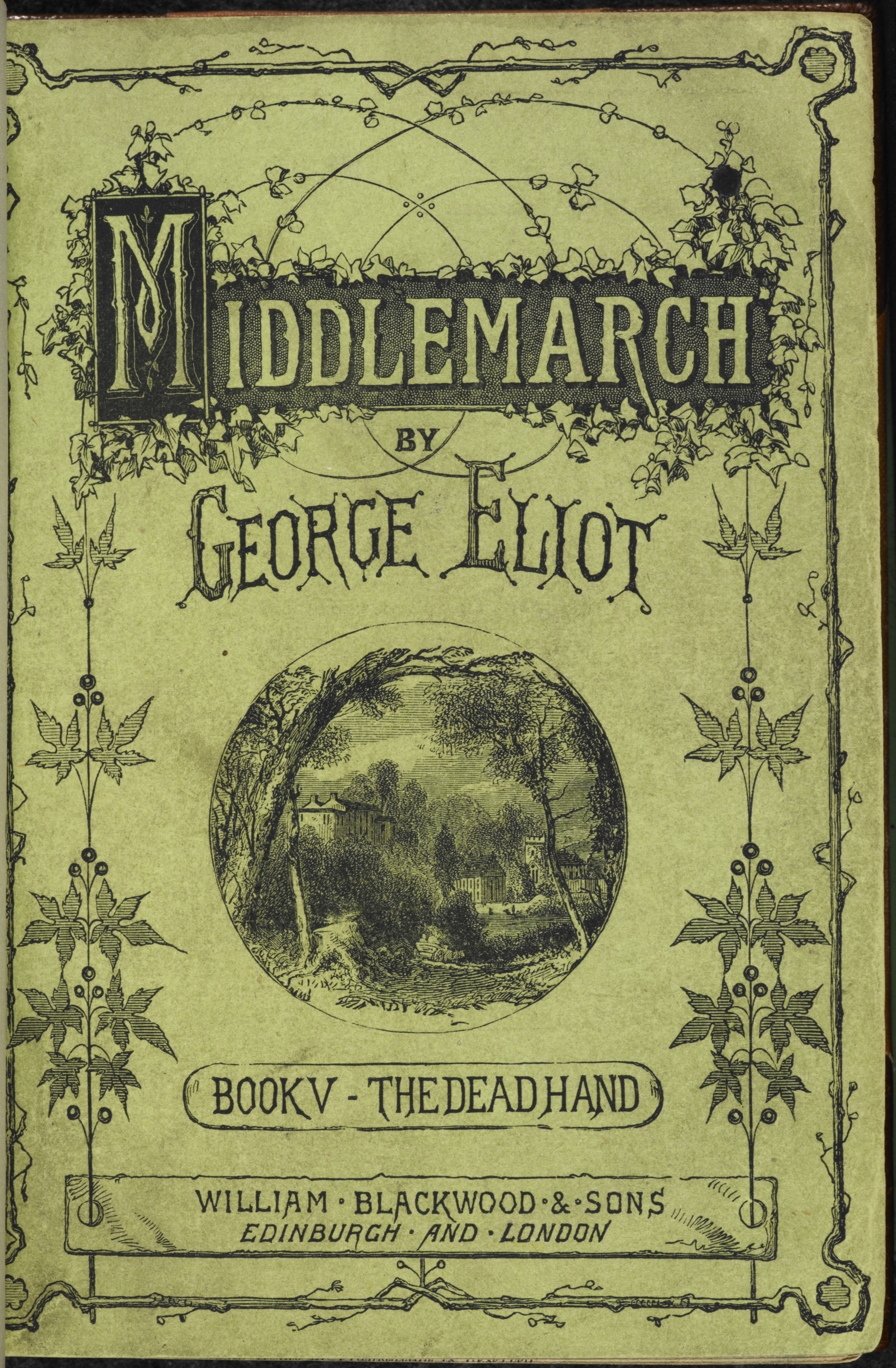 Illustrated title page from an 1871 edition of Middlemarch
