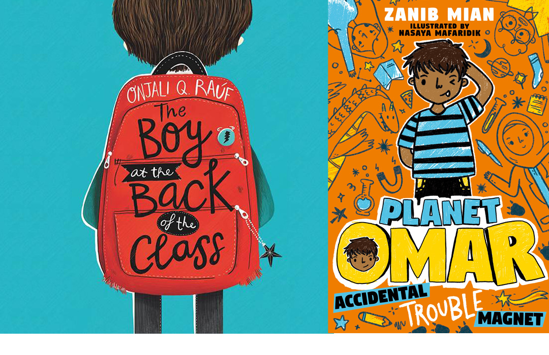 Book covers for books by Zanib Mian and Onjali Q Raúf