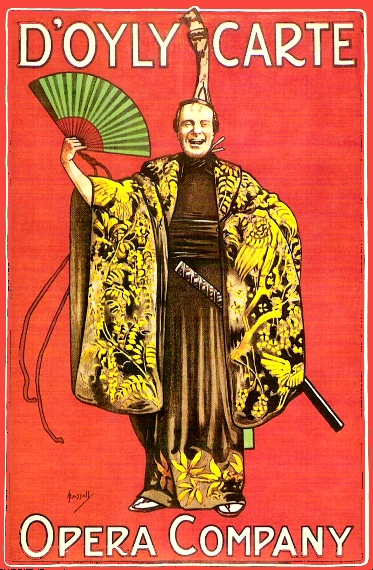 Vintage promotional poster for D'Oyly Carte Opera Company