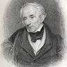"Portrait of Wordsworth and his manuscript of ""Daffodils"""