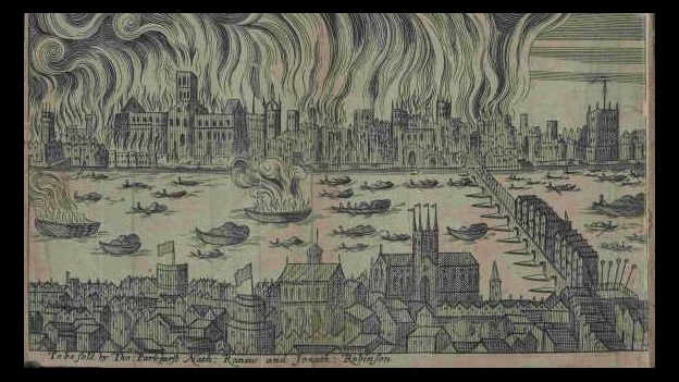 Collection item showing the 1666 fire of London