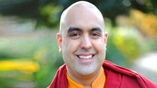 Monk, teacher and author Gelong Thubten smiling.
