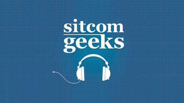 Sitcome geeks logo featuring a simple headphones design.