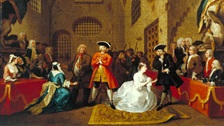 A print by Hogarth depicting a scene from The Beggars Opera. Tate Collection N02437
