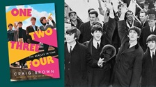 Cover of Craig Brown's book and an image of the Beatles.