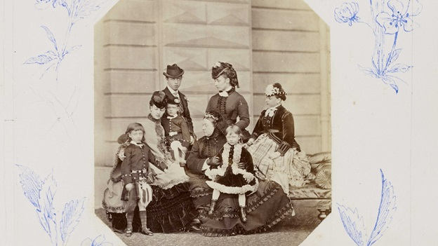 A Victorian family photographic portrait.