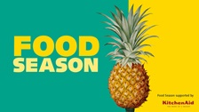 Food Season logo with pineapple.
