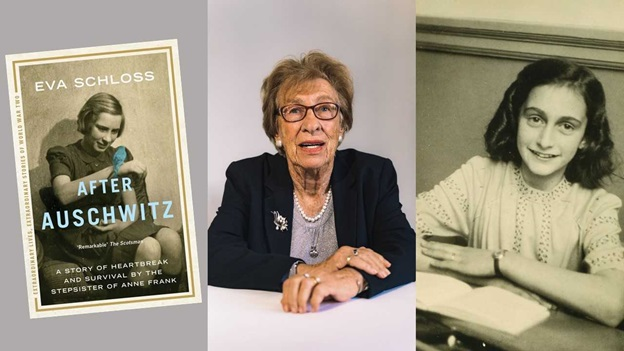 Portraits of Eva Schloss and Anne Frank