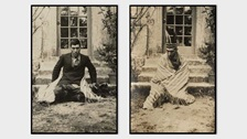 Two photographs of Frank James Prewett by Lady Ottoline Morrell, 1919. © National Portrait Gallery, London.