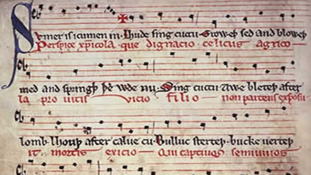 Fragment of music manuscript