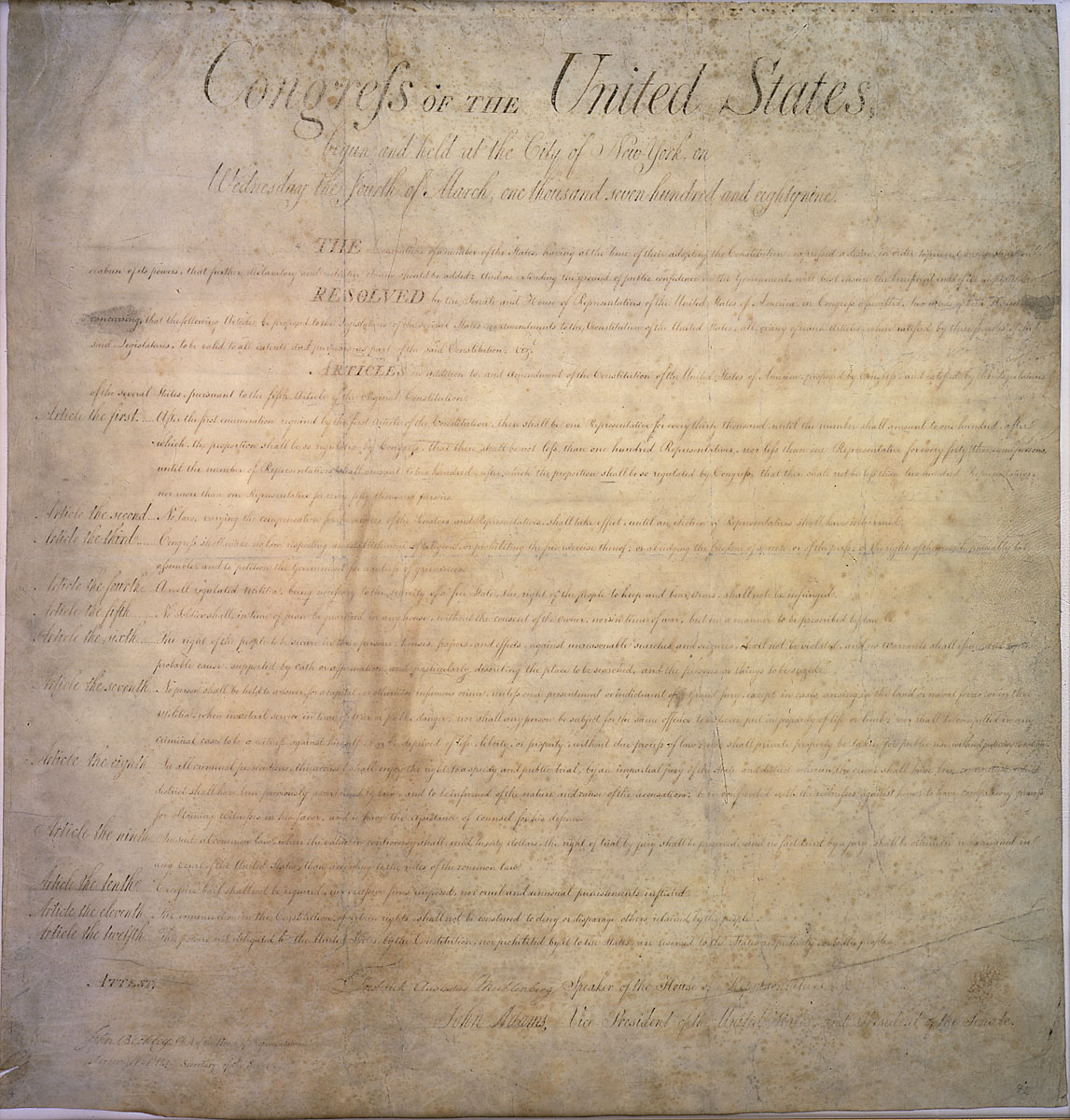 United States's Bill of Rights