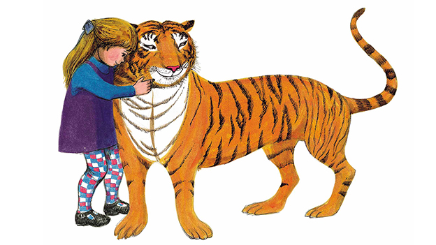 Illustration from 'Tiger Who Came to Tea'
