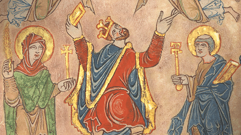 King Edgar's charter for the New Minster, Winchester (detail)