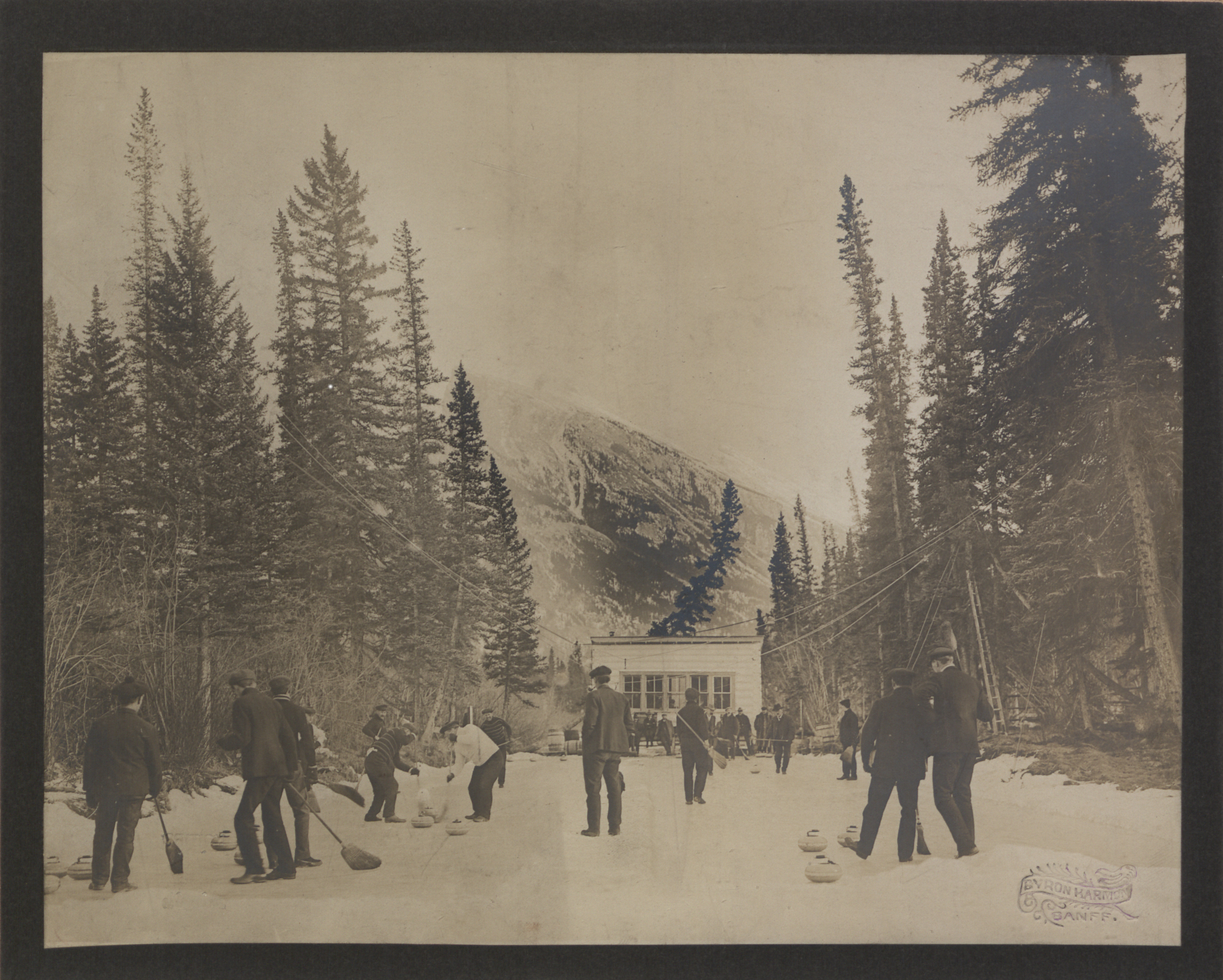 Canada Through the Lens: Curling at Banff (HS85-10-16920)