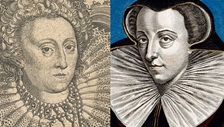 Contemporary illustrations of Queen Elizabeth I and Mary, Queen of Scots