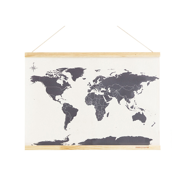 Maps Shop item: Cross Stitch World Map