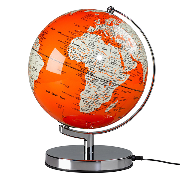 Maps Shop Item: Orange Globe Light