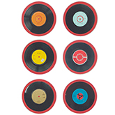Coasters depicting classic Punk vinyls
