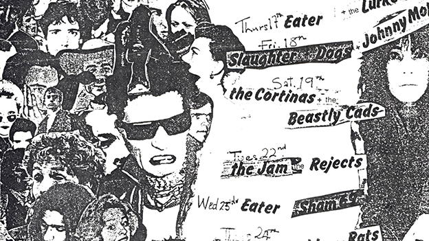 Flyer from the Roxy Club Covent Garden London 1977, artwork by Barry Jones. From England's Dreaming: The Jon Savage Archive held at Liverpool John Moores University