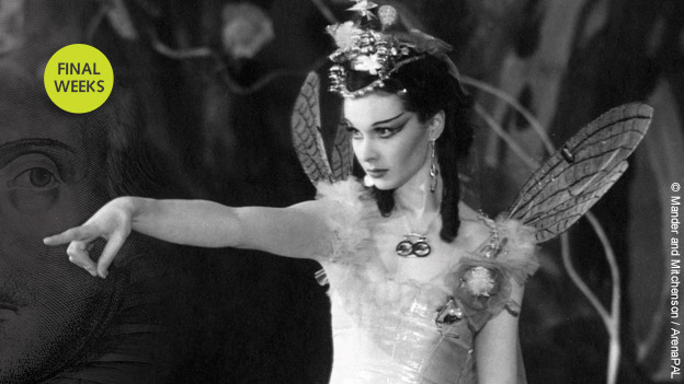 Final weeks to see Shakespeare in Ten Acts at the British Library. Image of Vivien Leigh (as Titania) from a Midsummer Night's Dream at the Old Vic Theatre, 1937, Photograph by J W Debenham  courtesy of the Mander and Mitchensen collection at the University of Bristol
