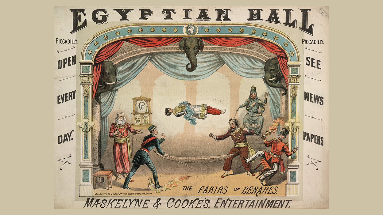 original poster – Maskelyne & Cooke's Entertainment presents 'The Fakirs of Benares', at the Egyptian Hall