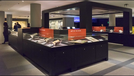 Inside the Treasures Gallery at the British Library (credit: Tony Antoniou)