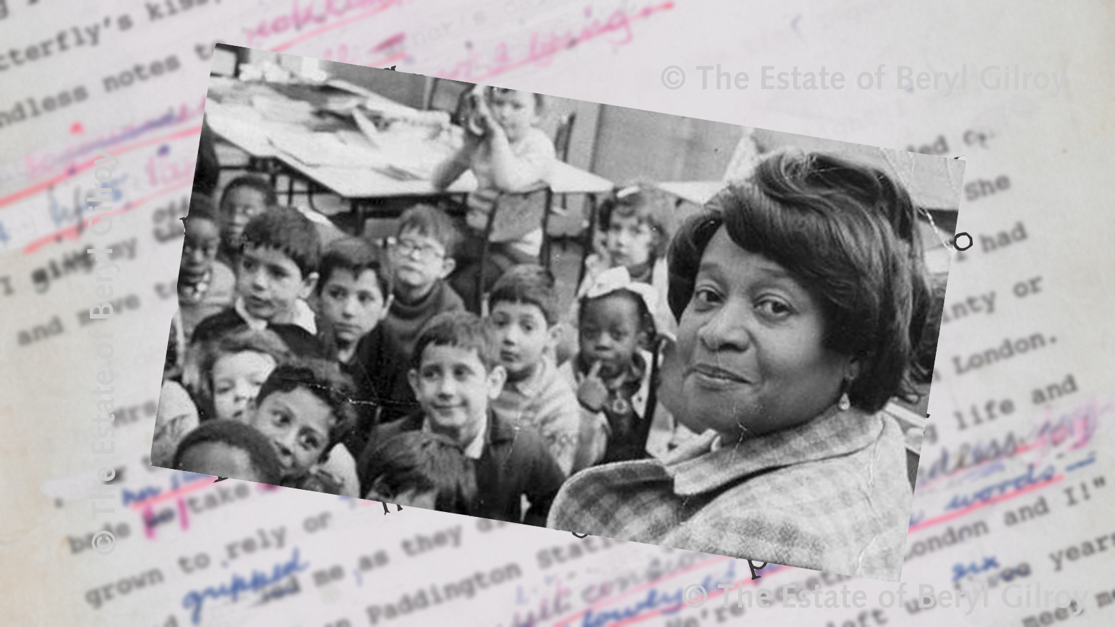 Banner for article about Beryl Gilroy's Black Teacher