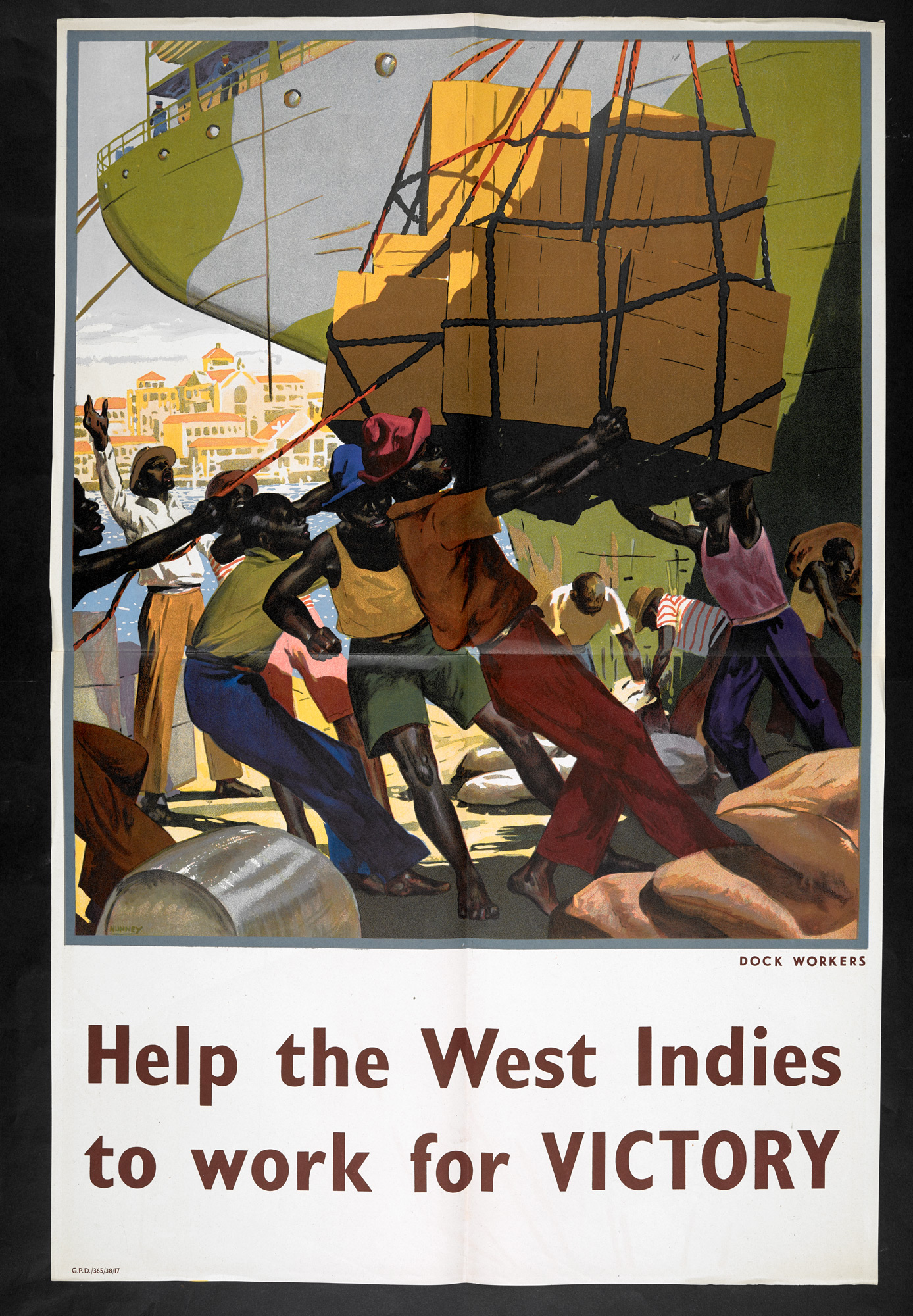 Help the West Indies WWII poster