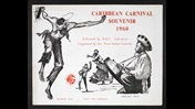 Cover for the 1960 Caribbean Carnival programme, featuring line drawings of musicians and dancers