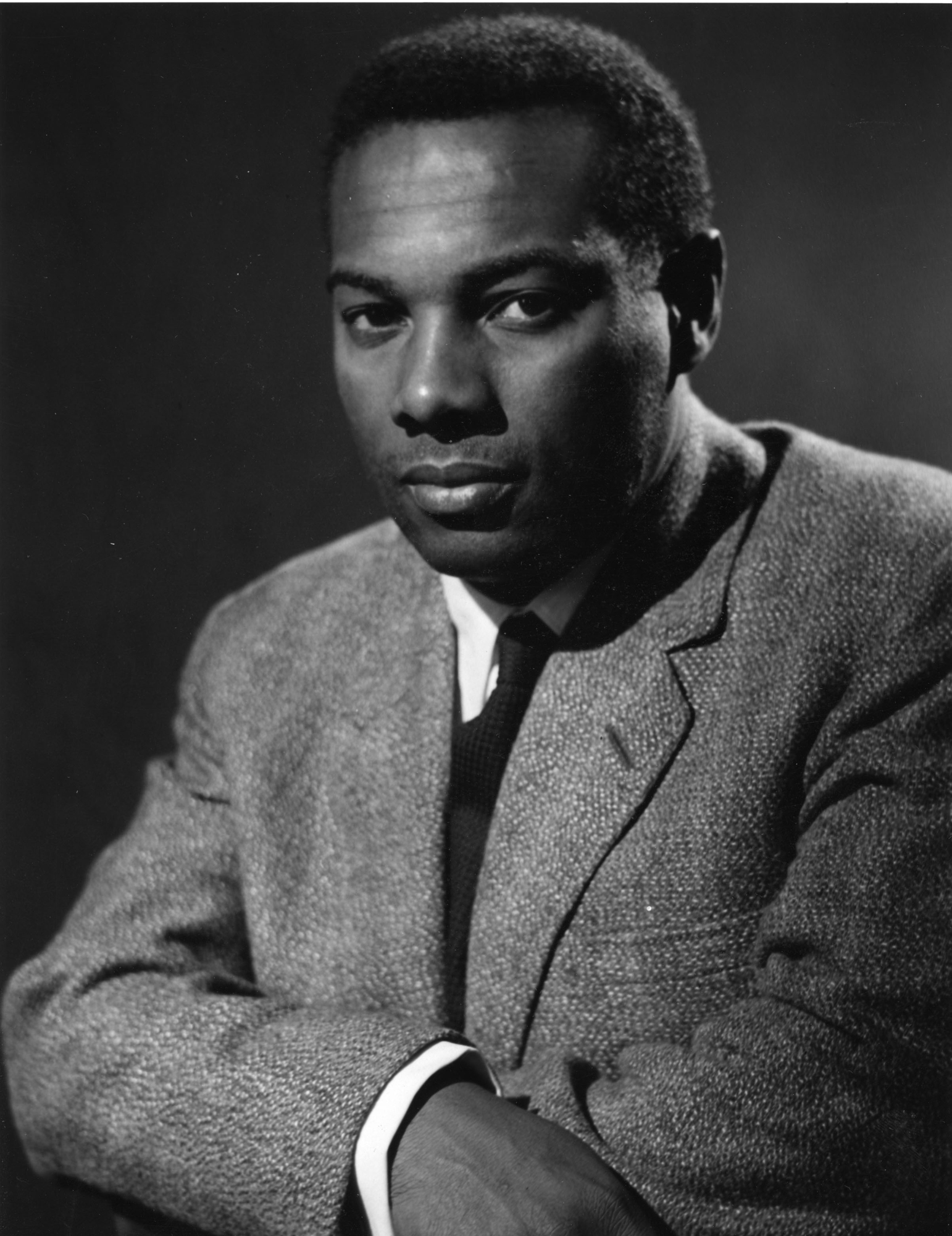 (c) BBC. Picture shows - Errol John, the West Indian actor and author, who is heard in many BBC drama productions. He will play the leading role in his own play 'Small Island Moon', which will be prsented in the BBC Third World Programme on Tuesday 27th May 1958.