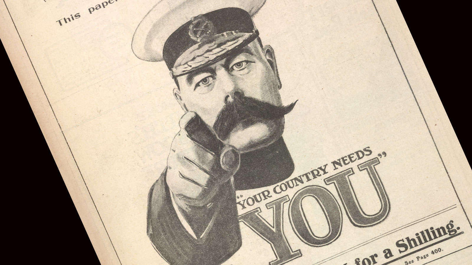 Lord Kitchener's army, your country needs you poster