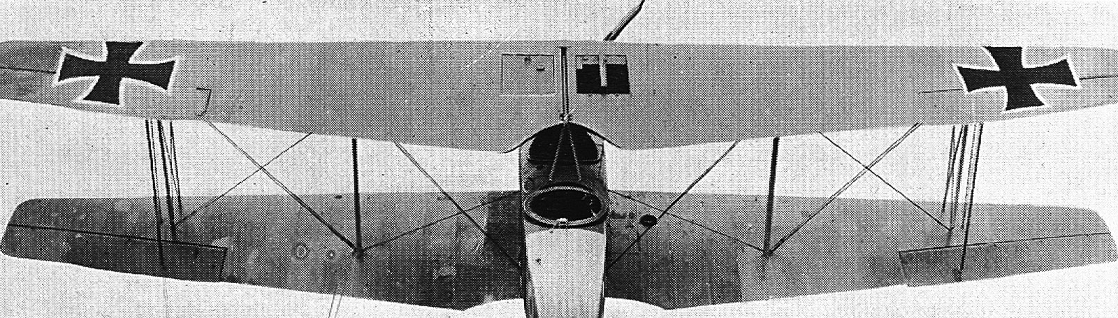 Photograph of wings of German aircraft