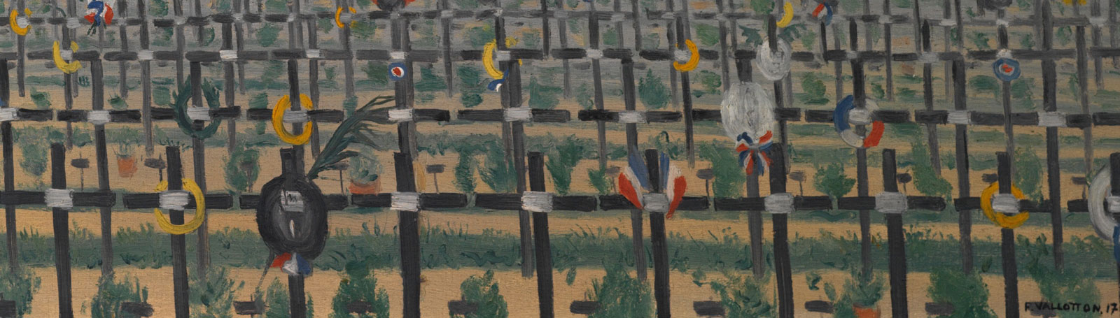 Artwork of war graves/cemetery