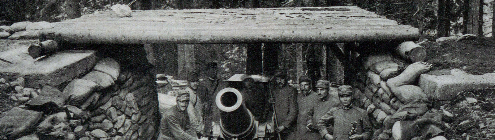 Photograph of men with heavy artillery