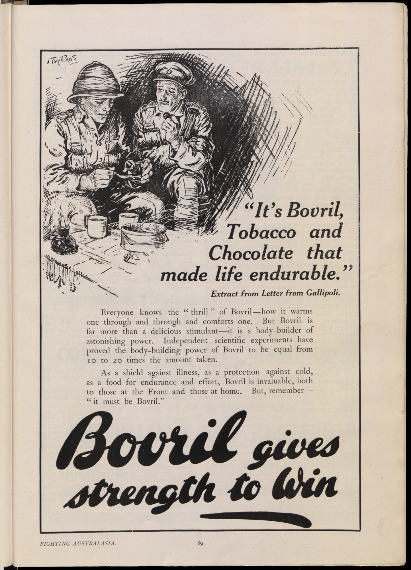 Advert for Bovril