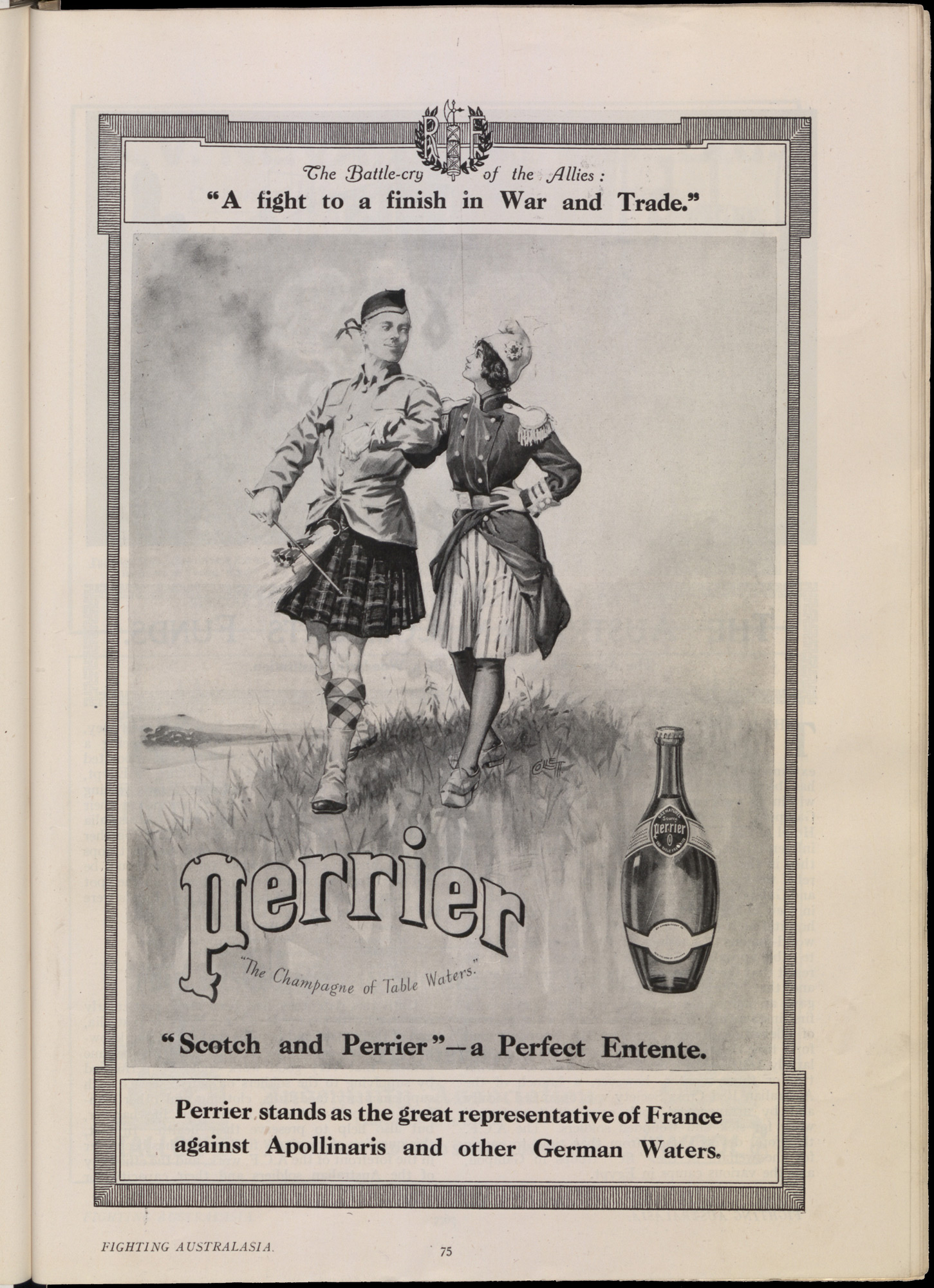 Advert for Perrier Water