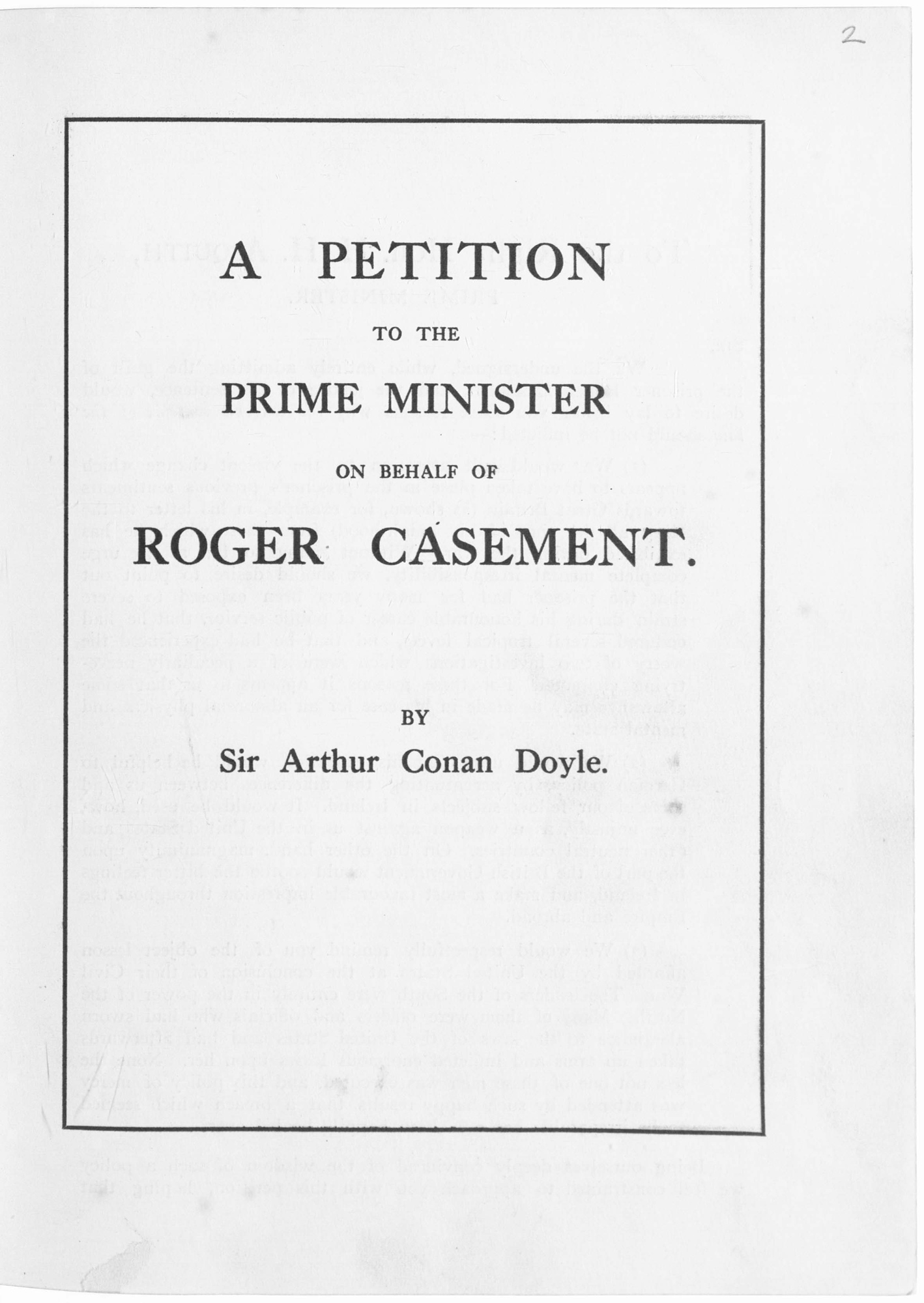 Letter from Sir Conan Doyle