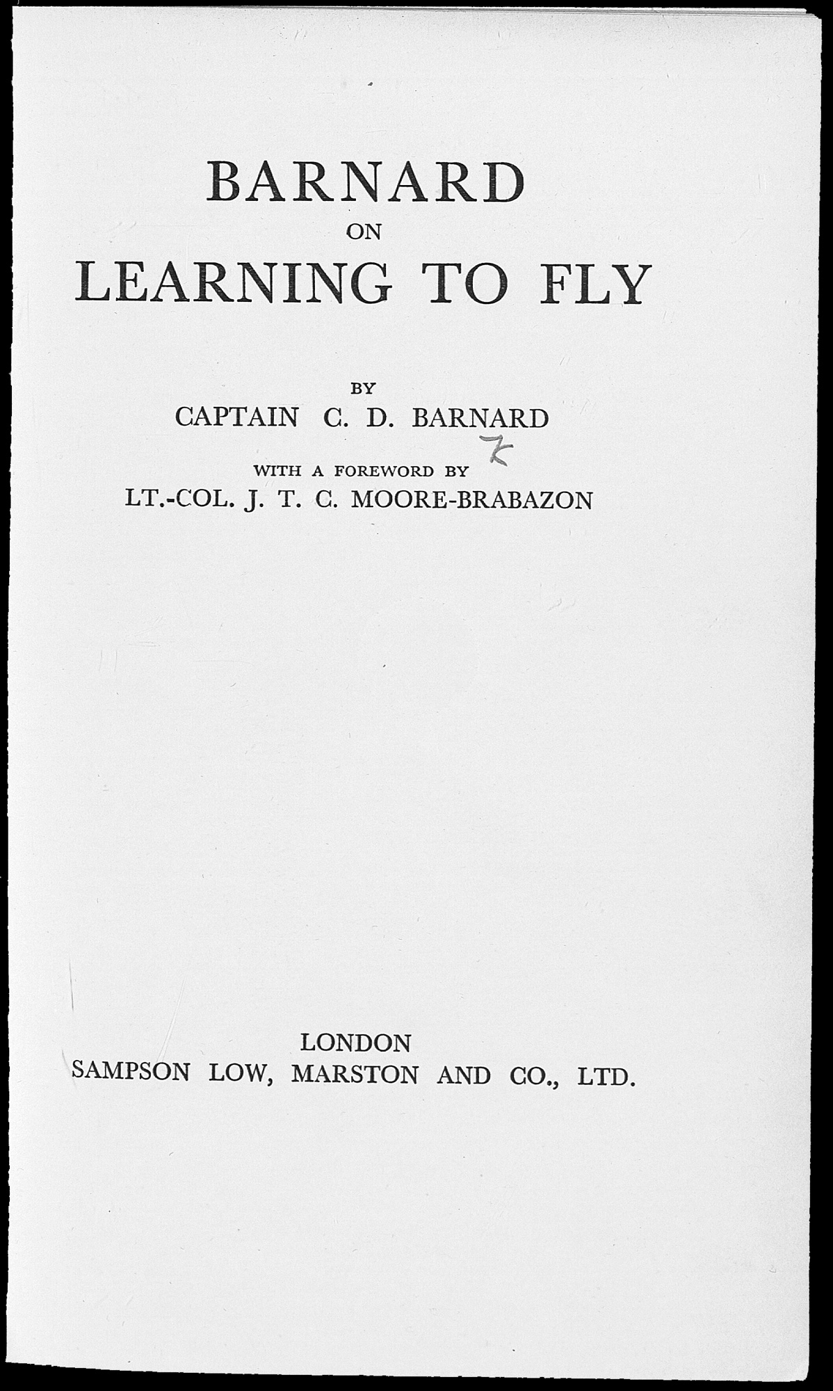 Barnard on learning to fly