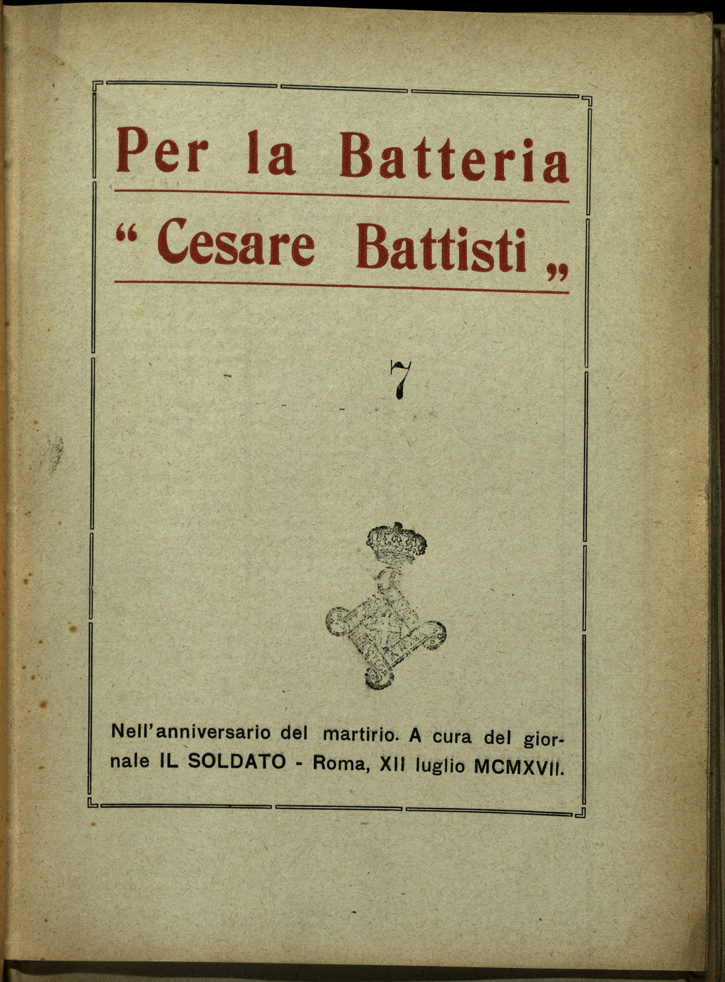 For the battery Cesare Battisti