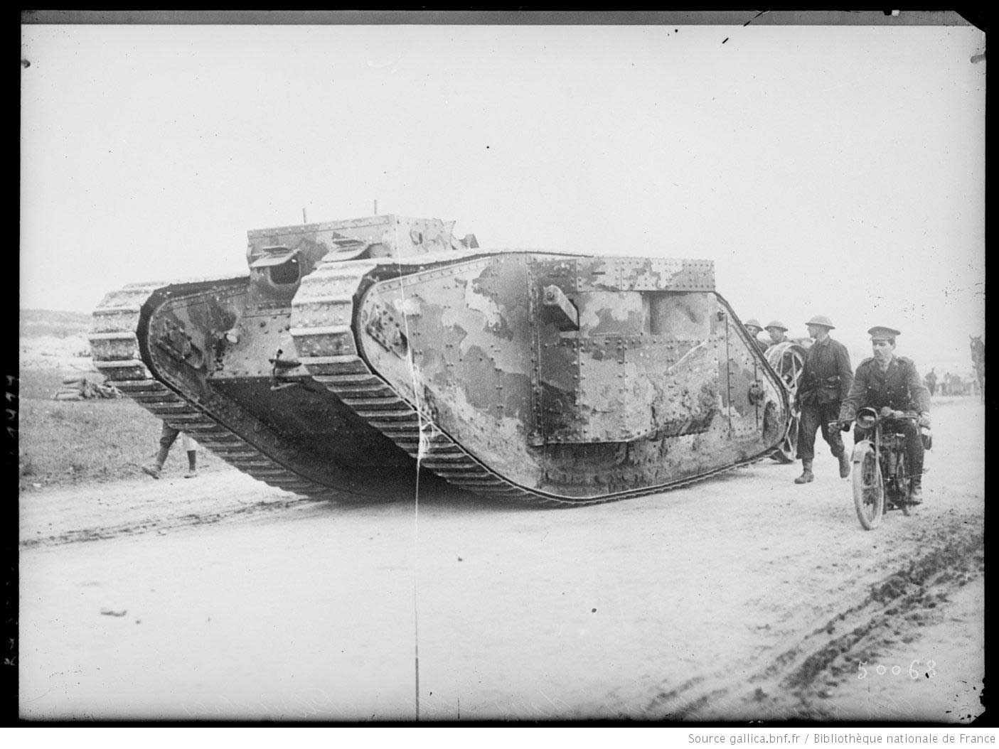 British tank in Flanders