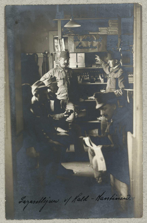 Canteen in Danish internment camp