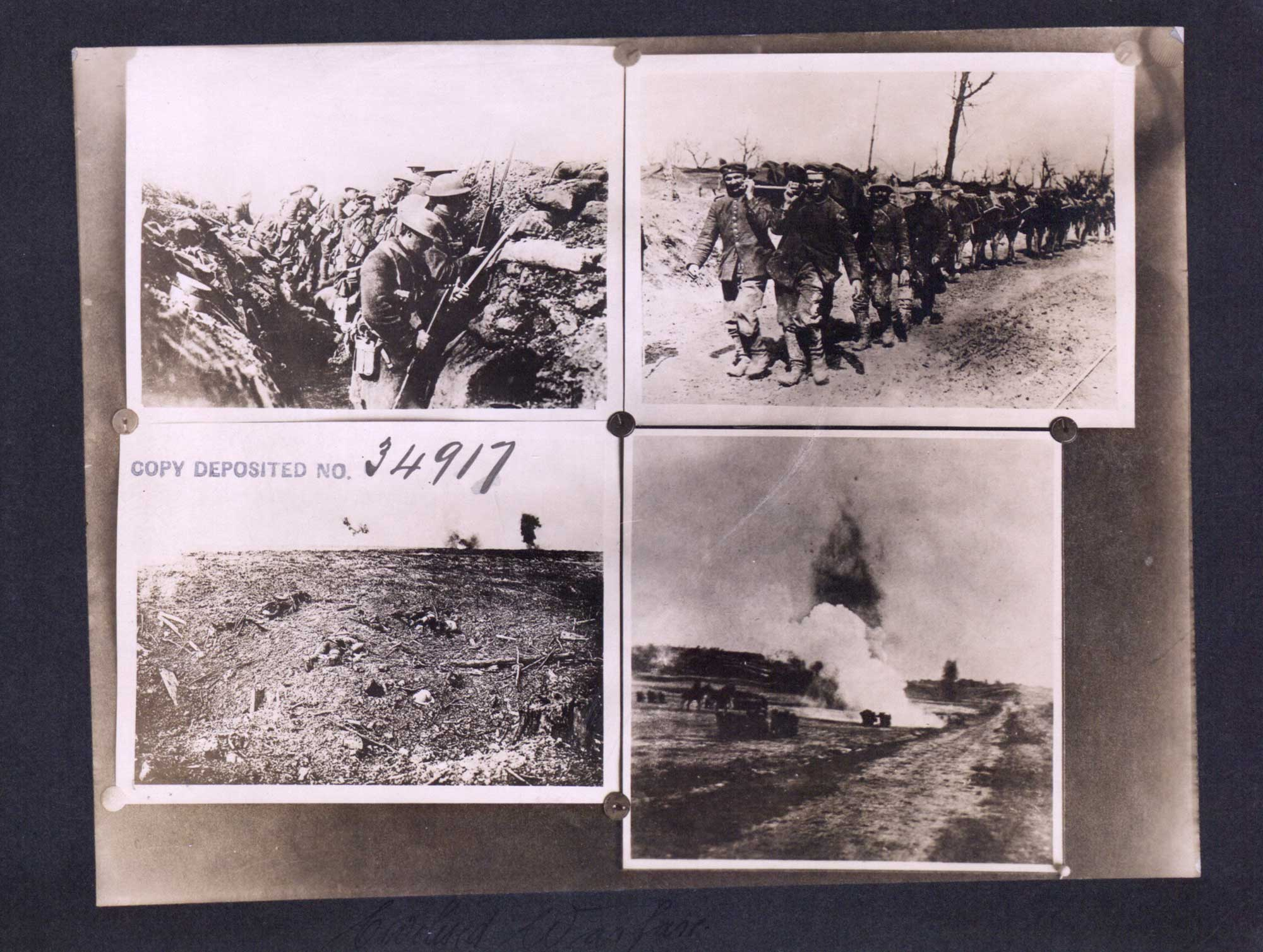Photographs taken by Canadian soldiers at the Western Front in 1918.