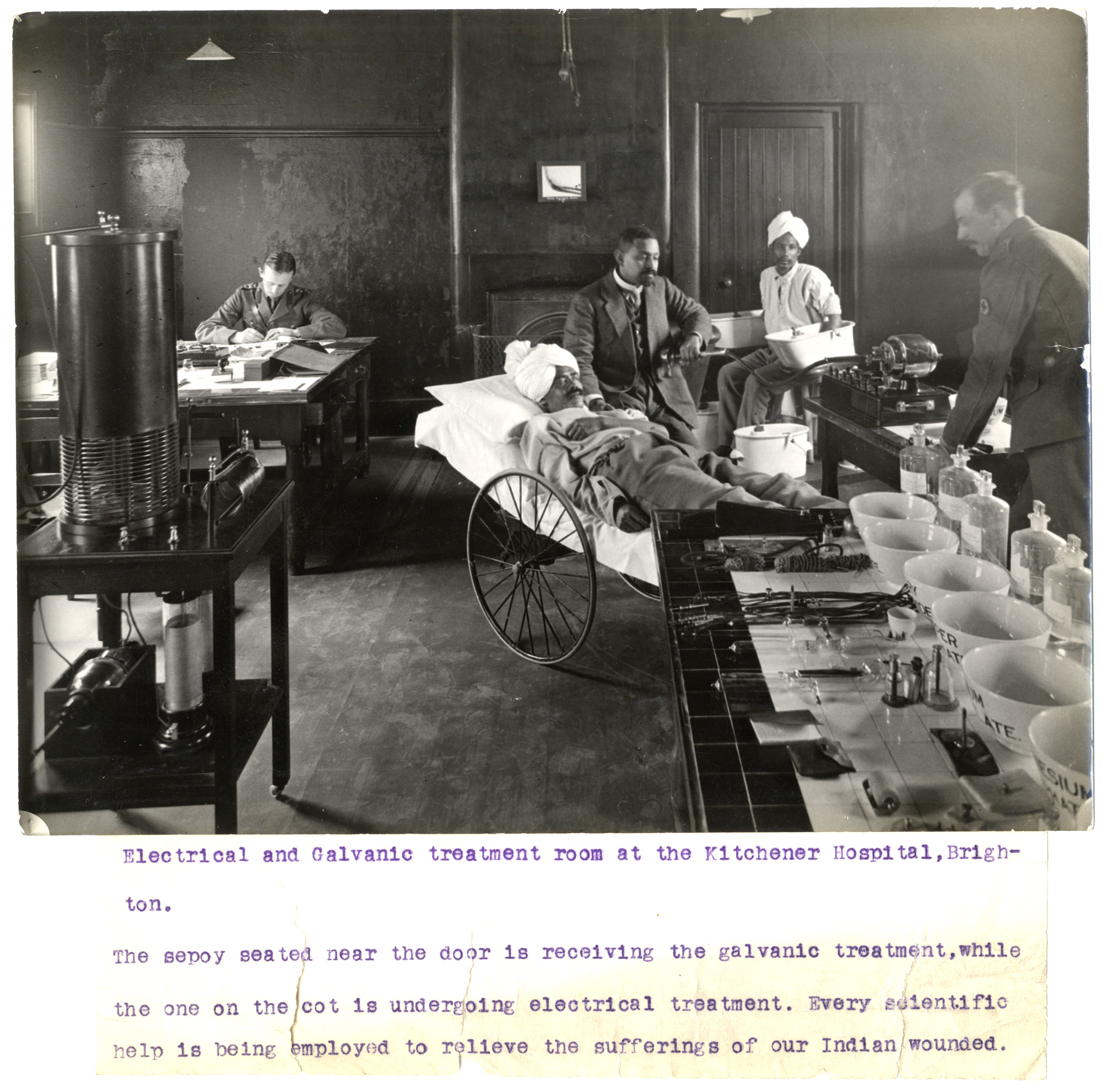 Electrical and galvanic treatment room